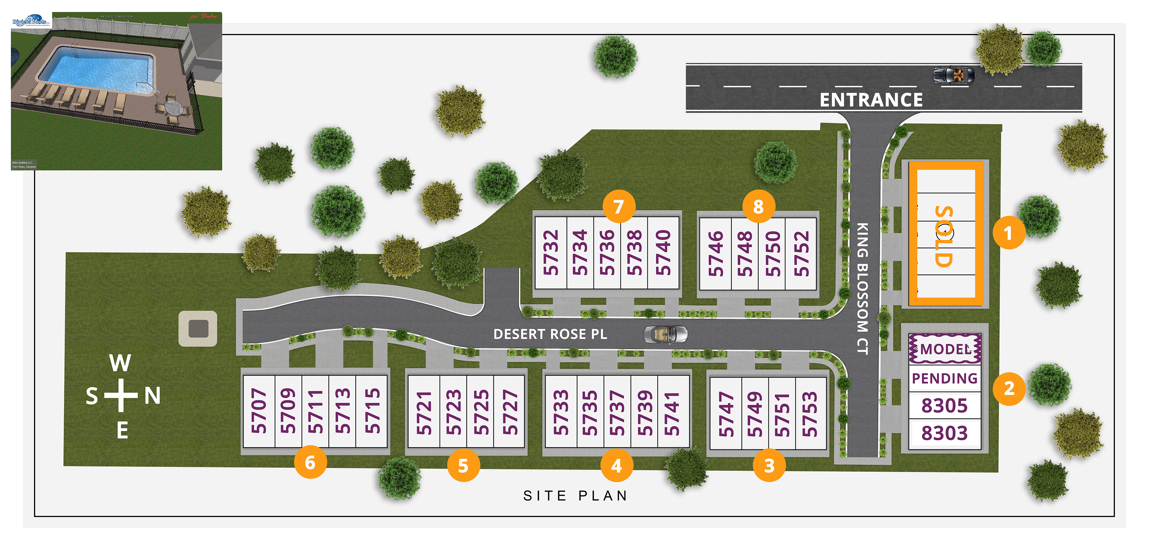 KINGSPORT SITE PLAN NUMBERS
